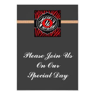 wicked red zebra initial letter O Announcement