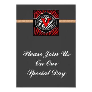 wicked red zebra initial letter V Announcements