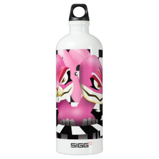 Wicked siamese rabbits and no magician aluminum water bottle