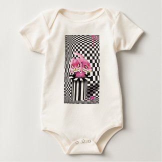 Wicked siamese rabbits and no magician baby bodysuit