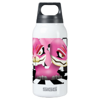 Wicked siamese rabbits and no magician insulated water bottle