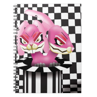 Wicked siamese rabbits and no magician spiral notebooks