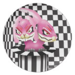 Wicked siamese rabbits and no magician dinner plates