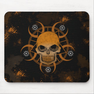 Wicked Skull With Crop Circles Mouse Pad