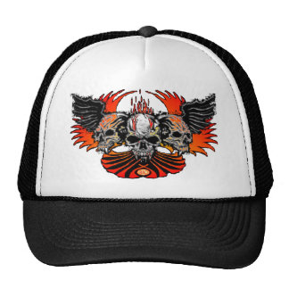 Wicked Skulls Wings Flames Phoenix... - Customized Hats