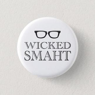 Wicked Smaht(Smart) Boston Speak Humor Pinback Button