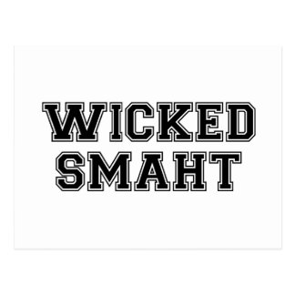 Wicked Smart Smaht College Boston Post Cards