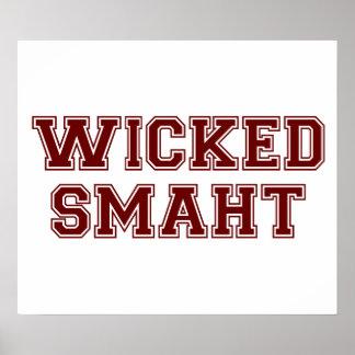 Wicked Smart (Smaht) College Boston Poster