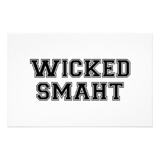 Wicked Smart (Smaht) College Boston Stationery Design
