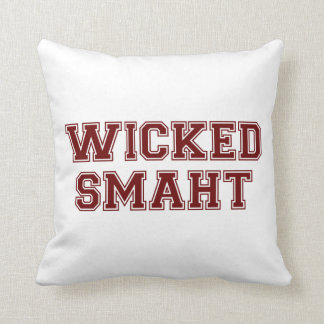 Wicked Smart (Smaht) College Boston Throw Pillow