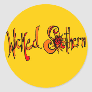 Wicked Southern Classic Round Sticker