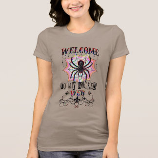 wicked spider web spooky  halloween shirt, t-shirt