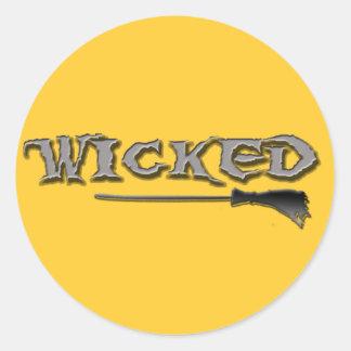 WICKED CLASSIC ROUND STICKER
