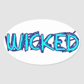 WICKED OVAL STICKERS