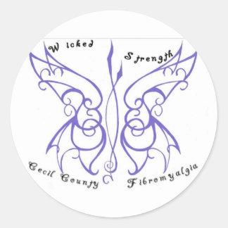 Wicked Strength Round Sticker