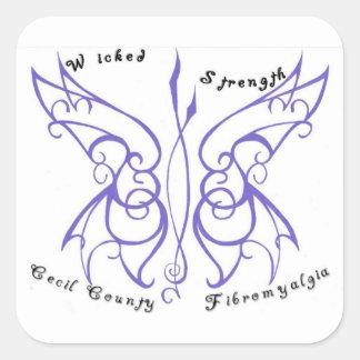 Wicked Strength Square Sticker