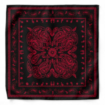 Wicked Style Red and Black Paisley Bandana