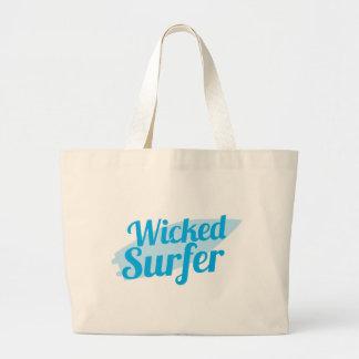 wicked surfer jumbo tote bag