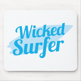 wicked surfer mouse pad