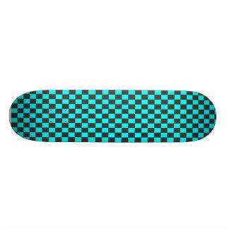 Wicked Sweet Gray & Turquoise Skateboard