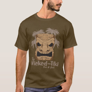 Wicked Tiki Bar Men's Dark Long Sleeve Shirt