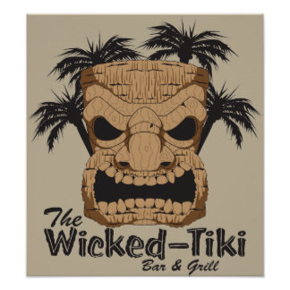 Wicked Tiki Bar Poster