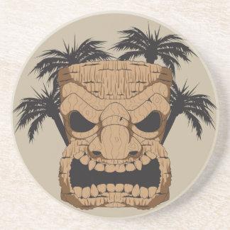 Wicked Tiki Carving Sandstone Coaster