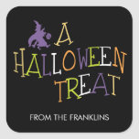 Wicked Treat Halloween Gift Tag Stickers Square Stickers