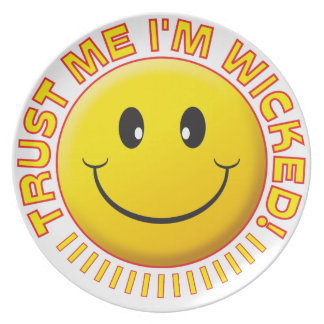 Wicked Trust Me Smile Plate