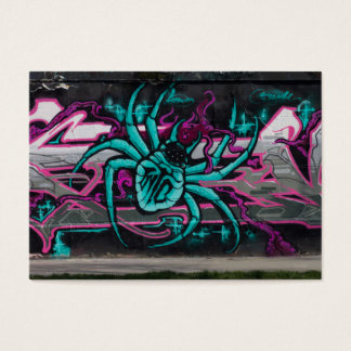 Wicked Turquoise Spider Business Card