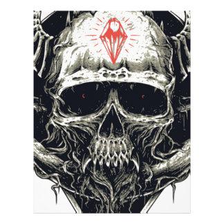 Wicked Viking Diamond Skull Letterhead