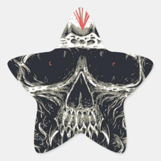 Wicked Viking Diamond Skull Star Sticker