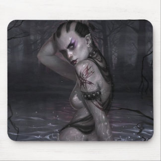 Wicked Waters Vampire Girl Art Mouse Pad