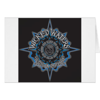 Wicked Waters works of art apparel, clothes, gifts Card