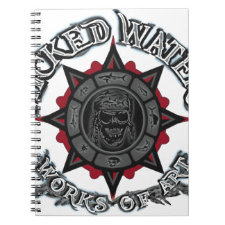 Wicked Waters works of art apparel clothes gifts Spiral Note Book