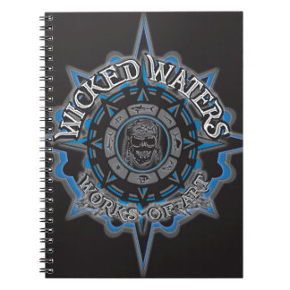Wicked Waters works of art apparel clothes gifts Notebook