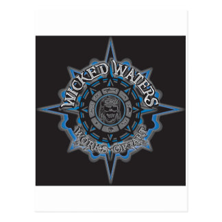 Wicked Waters works of art apparel, clothes, gifts Postcard