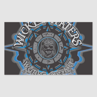 Wicked Waters works of art apparel, clothes, gifts Rectangular Sticker