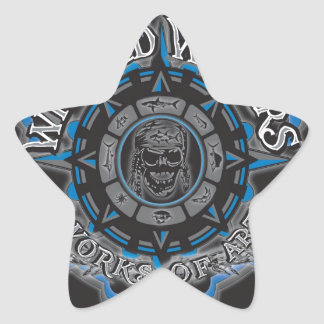 Wicked Waters works of art apparel, clothes, gifts Star Sticker