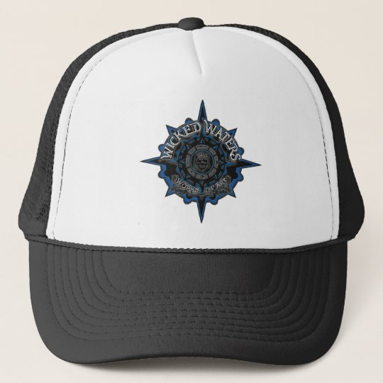 Wicked Waters works of art apparel, clothes, gifts Trucker Hat