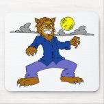 Wicked Werewolf Mousepads