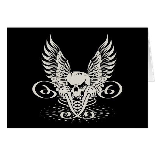 Wicked Winged Skull Card