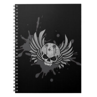 Wicked Winged Skull Spiral Notebook