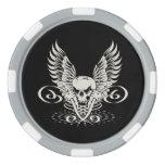 Wicked Winged Skull Poker Chip Set