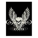 Wicked Winged Skull Postcard