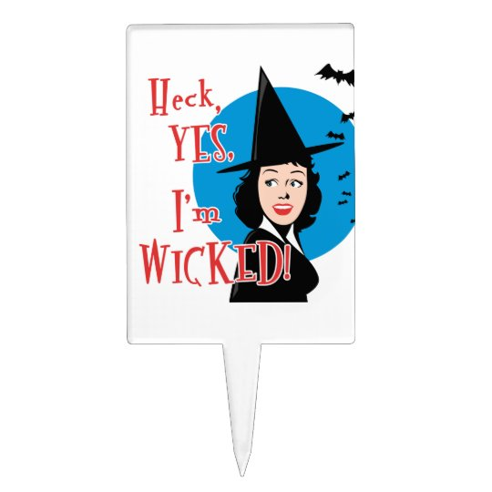 Wicked Witch Cake Topper