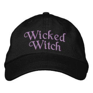 Wicked Witch Embroidered Baseball Hat