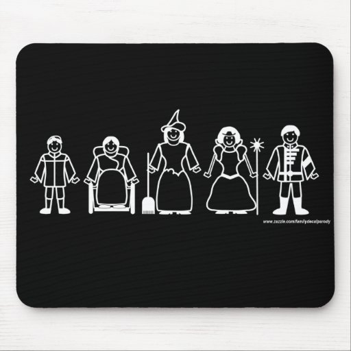 Wicked Witch Family Mousepad