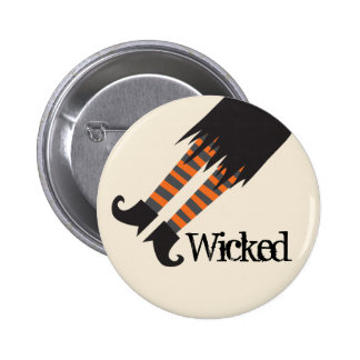 Wicked Witch Funny Halloween Pinback Button