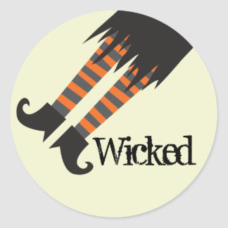 Wicked Witch Halloween Classic Round Sticker